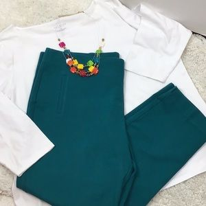 Chico's teal green pants + free Talbots top